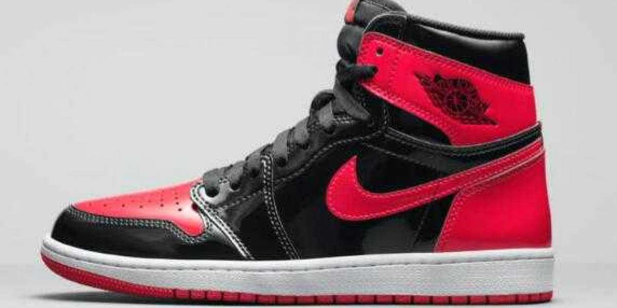 Best Selling Air Jordan 1 High OG Bred Patent Basketball Shoes